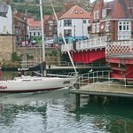 Whitby Swing bridge is open and Boats can go through
