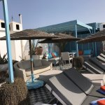 rooftop lounge next to pool