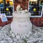 Sand Sculptures abound around town