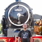 Me with the N7 class tank engine, I hope it steams again someday soon.