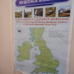 A very interesting heritage railways poster inside the heritage centre.