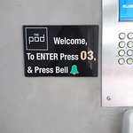 Entrance - be very precise when keying in the code