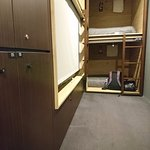 In-room lockers and side-entry pods