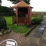 Gazebo for smokers, shelter from wind and rain!