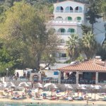 Apartments are on the beach with Taverna in between