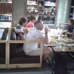 Guest are enjoying Lunch At Cellars