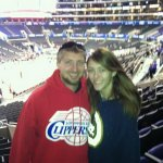 Sarah & I watching the LA Clippers
