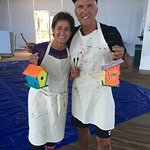 Birdhouse construction and painting activity - one of many offered by the resort