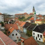 Wedding photographs overlooking historic old town