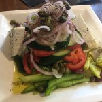 The Traditional Village Salad - no skimping on the Feta!