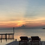 Sunset view from the overwater cabanas.