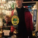 Joe the Brewer drinking his Arbour Light!