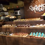 Selection of cakes at the cafetto