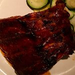 HAPPY HR Mesquite Grilled Wood-Fired Baby Back Ribs w/ Sweet Tangy BBQ Sauce=$10
