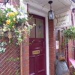 Flower Basket at Entrance Door