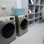 The self service laundry room