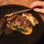 Belly pork (unknown orange puree)