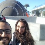 Me and my wife in front of the planetarium