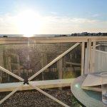 Coucher de soleil sur le balcon