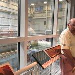 Restoration displays and Monitor historian John Quarstein