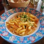 Pasta with cray fish