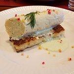 Mousseline de poisson au thym et riz poêlé
