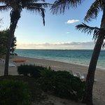 Blick vom Strandbungalow