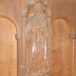 Wooden decoration on pulpit