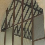 The wooden roof trusses