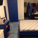la nostra stanza era stretta e lunga,sul fondo un letto a castello
