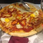 Pizza with an egg?