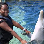 Michelle our 12 yr old enjoys Dolphin Cove at the Moon Palace Jamaica
