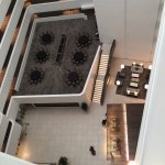 View from high floor of lobby, Morton's lobby area