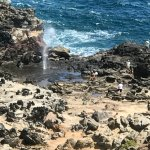 View of blowhole from the top.