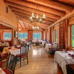 We offer a rustic and elegant setting in the Jenny Lake Dining Room.