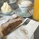 Apple Strudel from Cafe Landtmann in Vienna - served with a mountain of whipped cream