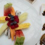 Fruit platter offered