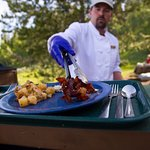 Book a breakfast or dinner cruise to enjoy a hot meal on Elk Island.