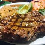 Our juicy and perfectly seasoned Rib Eye steak