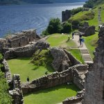wall structures remain like frames and give an impression what was where at Urquhart Castle