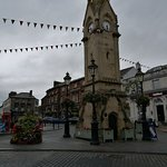 Penrith clock tower with George Hotel behind