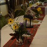 Tables all set for the Ceilidh