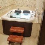Hot tub in health club