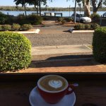 Early morning coffee @ Lazy river bar and bistro Noosaville  Best coffee in town !