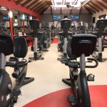 Cardio area in the French Village gym