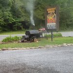 small smoker out front