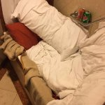 Sleeping in the bathroom during Hurricane Irma (nevertheless paid the full price of the level...