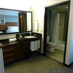 View into bathroom.