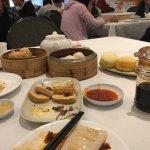 cold tofu and mushrooms, taro cake,
