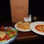 Chilli garlic prawns and Chicken Parmigiana